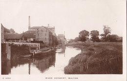 RPPC REAL PHOTO POSTCARD RIVER DERWENT  MALTON - Angleterre