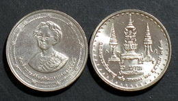 Thailand Coin 2 Baht 1990 90th Birthday King Mother Y232 UNC - Thailand