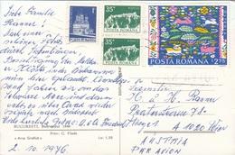 RUMÄNIEN - Schöne 4 Fach MIF Auf Ak BUCARESTI - Luftpost