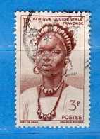 (Us3)  Afrique Occidentale Française, AOF 1948 - Yvert.44 . Oblitéré .  Vedi Descrizione - A.O.F. (1934-1959)