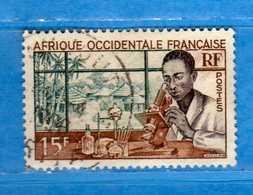 (Us3)  Afrique Occidentale Française, AOF 1953 - Yvert.48 . Oblitéré .  Vedi Descrizione - Usati