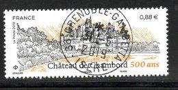France 2019.Château De Chambord (500 Ans).Cachet Rond Gomme D'origine. - Frankreich