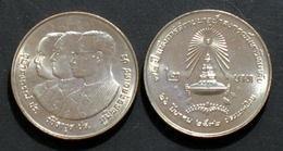 Thailand Coin 2 Baht 1989 72nd Chulalongkorn University Y225 UNC - Thailand