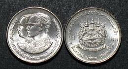Thailand Coin 2 Baht 1987 100th Chulalongkorn Military Academy Y188 UNC - Thailand