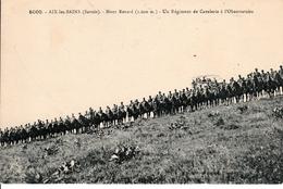 Un Régiment De Cavalerie Devant L'observatoire  - Mont Renard (1.600m) - Aix Les Bains - Regimenten