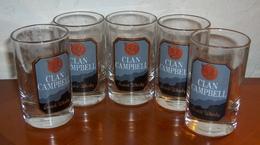 LOT DE CINQ VERRES CLAN CAMPBELL MOMIE - Glasses