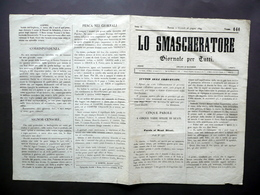 Lo Smascheratore Giornale Anno II Numero 144 Torino 28/6/1849 Risorgimento - Libri, Riviste, Fumetti