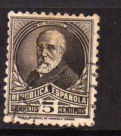 SPAIN ESPAÑA SPAGNA 1931 1932 FRANCISCO PI Y MARGALL CENT. 5c USATO USED OBLITERE' - 1931-Aujourd'hui: II. République - ....Juan Carlos I