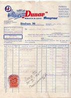 1935, YUGOSLAVIA, SERBIA JUDAICA, INVOICE ON LETTERHEAD, ''DUNAV'' BROTHERS LEVI, BELGRADE, FISKAL STAMP - Invoices & Commercial Documents