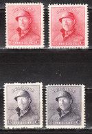 168/69* + 168A/69A*  Roi Albert Casqué - Les 2 Tirages - MH* - LOOK!!!! - 1919-1920 Roi Casqué