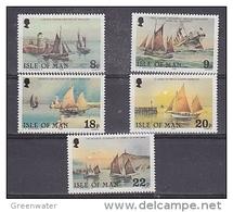 Isle Of Man 1980 Sailing Ships 5v ** Mnh (42919N) - Man (Eiland)