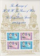 Isle Of Man 1981 Royal Wedding M/s ** Mnh (42920B) - Man (Eiland)