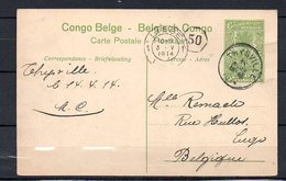 CONGO - EP STIBBE 42 - THYSVILLE 1914 - VUE 34  - AB1 - Entiers Postaux