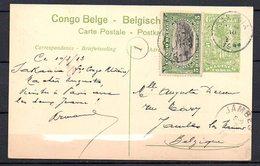 CONGO - EP STIBBE 42 - SAKANIA 1913 - VUE 65  - AB1 - Ganzsachen