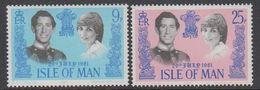 Isle Of Man 1981 Royal Wedding 2v ** Mnh (42921C) - Man (Eiland)