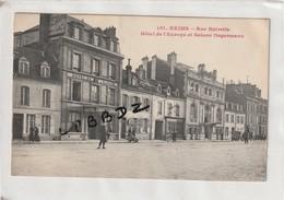 CPA - 51 - REIMS - Rue Buirette - Hôtel De L'Europe Et Salons Degermann - Animation - Reims