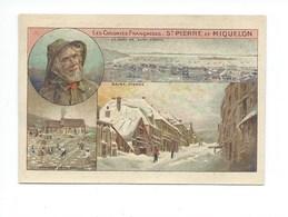 Saint Pierre Et Miquelon Chromo 105 X 70 Mm Bien Pub: Blédine Colonies Françaises 2 Scans (Enchères Anonymes) - Trade Cards