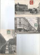 CPA 025 - CRISSE Place Et Rue--LE MANS L'avenue Thiers--EVREUX L' Allée Des Soupirs - Le Mans