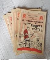 Le Collectionneur De Timbres-Poste De A. Maury - Années 1937 : N° 598 / 600 à 606 / 608 + N° 627 De Juillet 1939 - Magazines