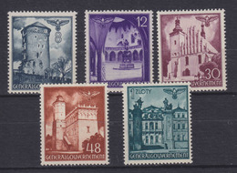 Dt.Bes.2.WK Generalgouvernement MiNr. 66-70 ** - Bezetting 1938-45