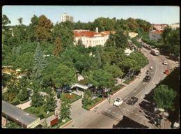 C1217 ABANO TERME - VIA PIETRO D'ABANO DALL'ALTO CON AUTO VG 1972 - Andere Städte