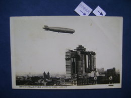 BRAZIL - ZEPPELIN POSTCARD OVERLAPPING SAO PAULO IN THE STATE - Aviazione