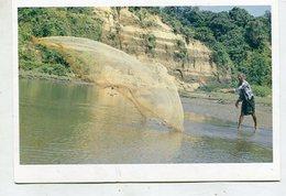 BANGLADESH  - AK 350779 A Fisherman Throwing Net For Fishing - Bangladesh