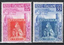 Italia Repubblica 1951 Toscana Sass.653/4 **/MNH VF - 6. 1946-.. República