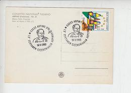 ITALIA 1993 - Annullo Speciale Illustrato Cicerone - Storia Roma - Storia