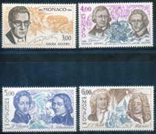 NB - [53130]SUP//**/Mnh-c:11e-Monaco N° 1501/04, Les Arts, écrivains Et Musiciens Célèbres Guitry, Grimm, Chopin, Shuman - Art