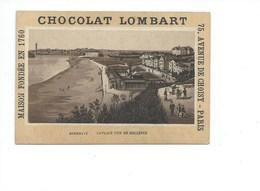 France Biarritz La Plage Pub Chocolat Lombart 1900 TB 110 X 75 Mm 2 Scans (Enchères Anonymes) - Other
