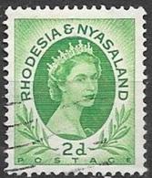 1954 Queen Elizabeth, 2d, Used - Rhodesia & Nyasaland (1954-1963)