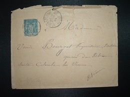 LETTRE TP SAGE 15 OBL.20 FEVR 94 ST JEAN DE BOURNAY ISERE (38) - 1877-1920: Période Semi Moderne