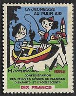 Vignette - Jeunesse Au Plein Air  - Pour Les Vacances D'enfants - NEUVE* - Commemorative Labels