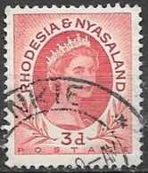 1954 Queen Elizabeth, 3d, Used - Rhodesia & Nyasaland (1954-1963)