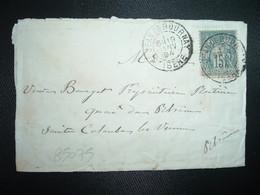 LETTRE TP SAGE 15 OBL.19 JANV 94 ST JEAN DE BOURNAY ISERE (38) - 1877-1920: Période Semi Moderne
