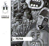 B 2562 - Biglietto D'ingresso, Musei Civici, Varese - Biglietti D'ingresso