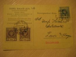 KATOWICE 1924 3 Stamp On Card POLAND - 1919-1939 Republic