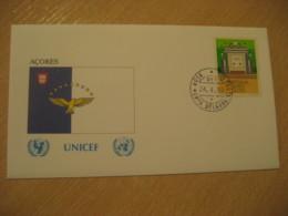 PONTA DELGADA 1990 UNICEF Açores Cancel Cover PORTUGAL - 1910-... República