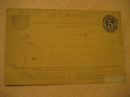 Carta De Posta Legea 1873 5 Bani Postal Stationery Card ROMANIA - Interi Postali