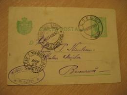 PLOESCI 1899 To Bucharest Cancel Postal Stationery Card ROMANIA - Briefe U. Dokumente