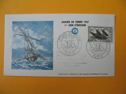 FDC 1957  France N° 1093   Journée Du Timbre    Cachet  Paris - FDC