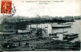 """N°73435 -cpa Saint Malo -lancement Du """"pourquoi Pas"""" 1908 - Saint Malo"""