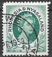 1954 Queen Elizabeth, 4-1/2d, Used - Rhodesia & Nyasaland (1954-1963)