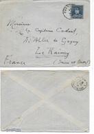 Lettre Belgique 1936 Cachet MARBEHAN Au Sujet Des Fusillés De ROSSIGNOL Et D'ARLON En Août 1914 - Otros