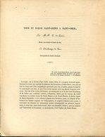 C. De LINAS, Tour Et église Saint-Denis à Saint-Omer, 1850 - Livres, BD, Revues