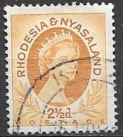 1956 Queen Elizabeth, 2-1/2d, Used - Rhodesia & Nyasaland (1954-1963)