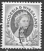 1954 Queen Elizabeth, 1sh, Used - Rhodesia & Nyasaland (1954-1963)