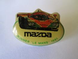 PIN'S   MAZDA  WINNER LE MANS  1991 - Rallye