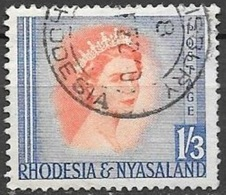 1954 Queen Elizabeth, 1sh-3d, Used - Rhodesia & Nyasaland (1954-1963)